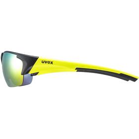 UVEX Blaze III Glasses black matt/yellow/mirror yellow